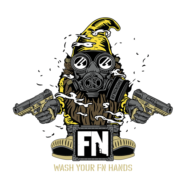 FNH FN GNOME LOGO STICKER BLUE GNOME FNH USA BALLISTA FIVESEVEN 5.7 #FNBLUEGNOME